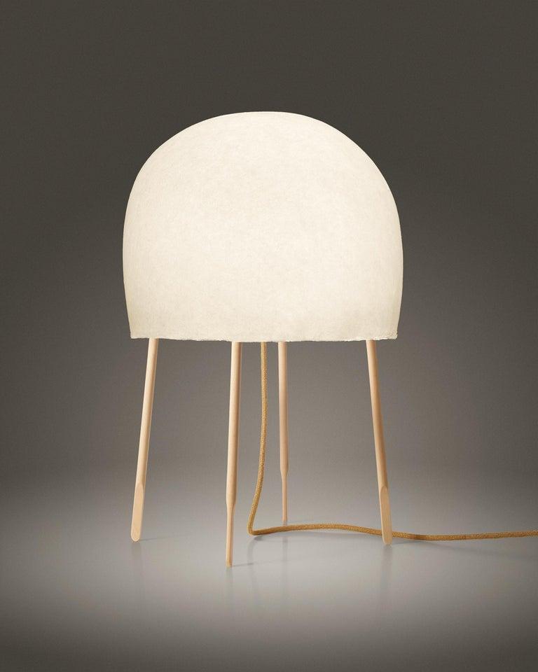 Modern Foscarini Kurage Table Lamp in White by Nendo and Luca Nichetto For Sale