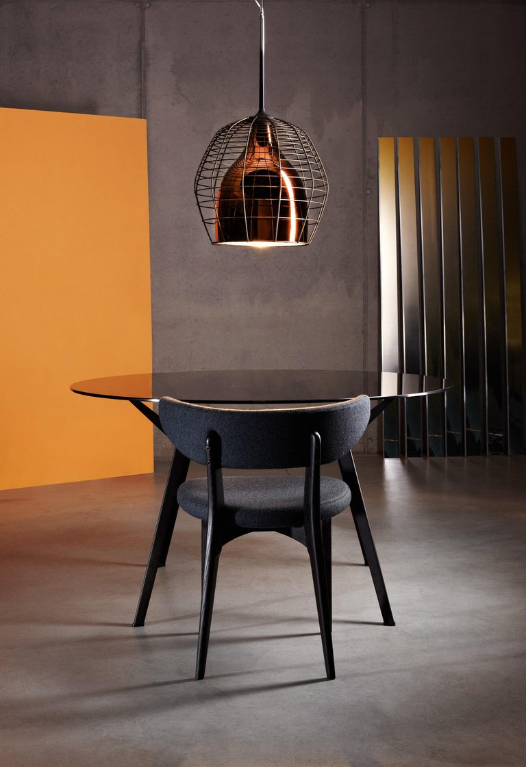 Italian Foscarini Large Cage Suspension Lamp in Brown & Bronze by Diesel For Sale