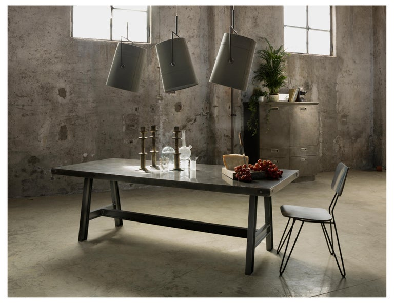 Modern Foscarini Large Fork Suspension Lamp in Brown and Grey by Diesel For Sale