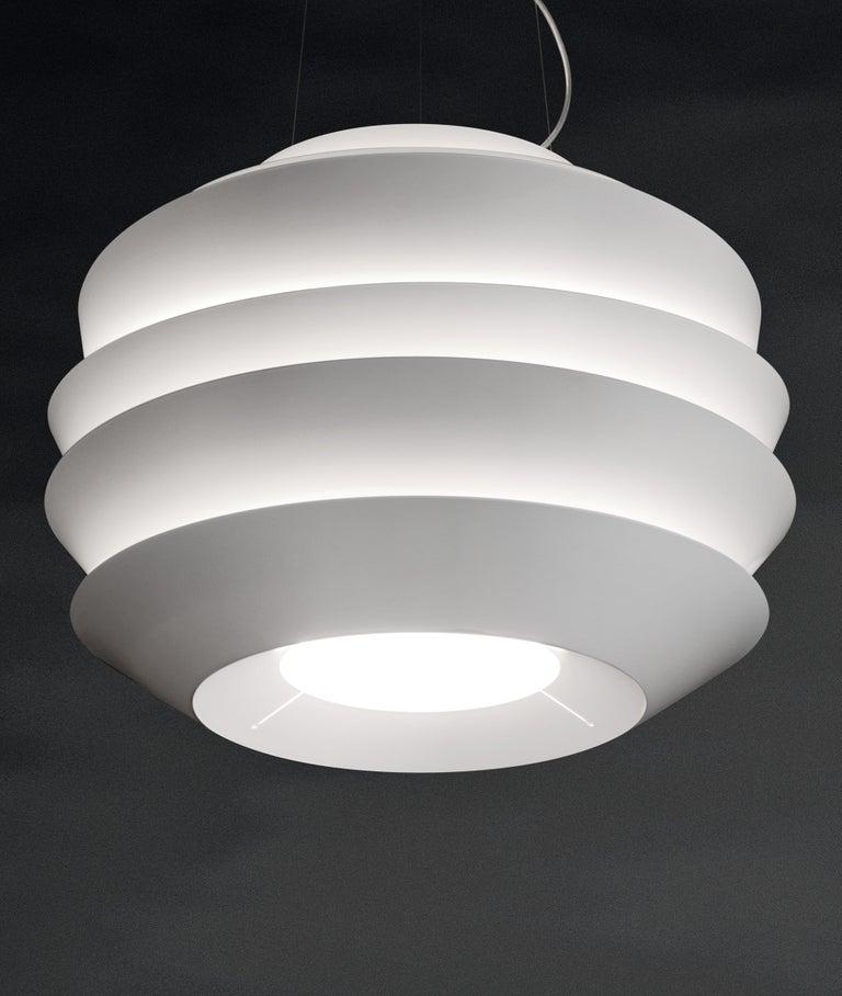 Modern Foscarini Le Soleil Suspension Lamp in White by Vicente Garcia Jimenez For Sale