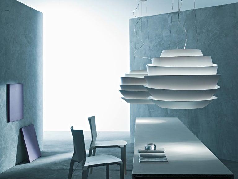 Italian Foscarini Le Soleil Suspension Lamp in White by Vicente Garcia Jimenez For Sale