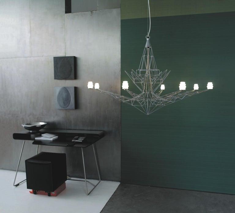 Italian Foscarini Lightweight Suspension Lamp in Anodized by Tom Dixon For Sale