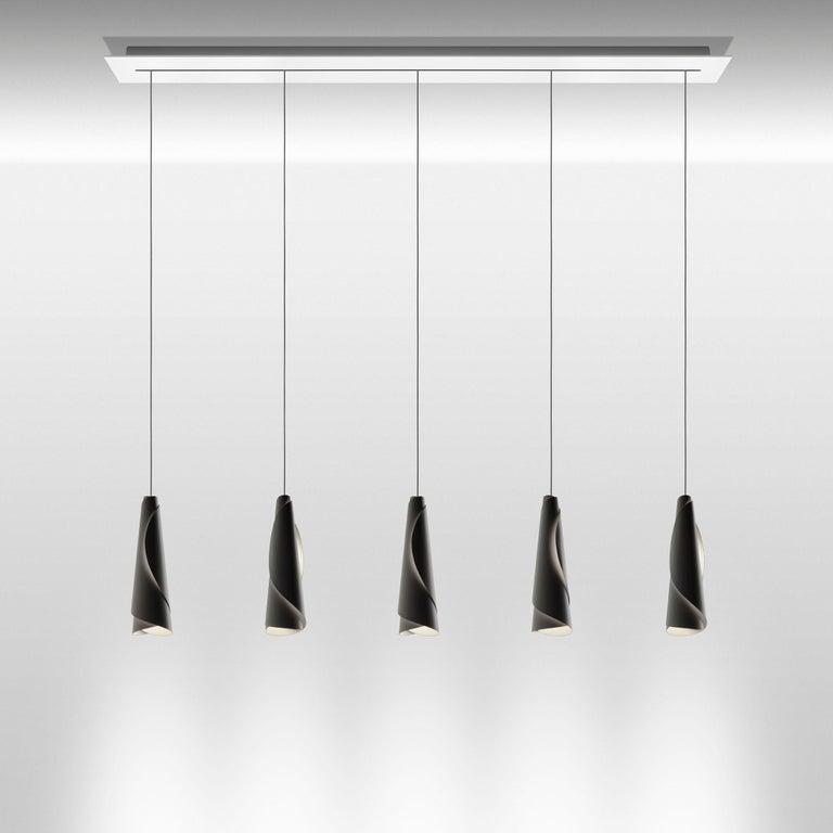 Modern Foscarini Maki Suspension Lamp in White by Nendo For Sale