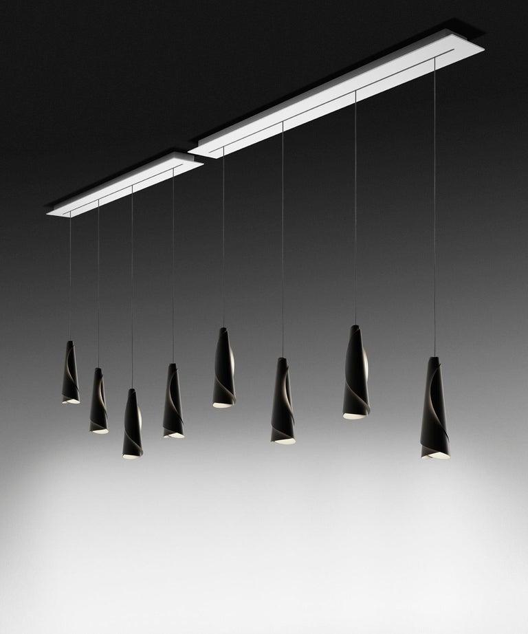 Italian Foscarini Maki Suspension Lamp in White by Nendo For Sale