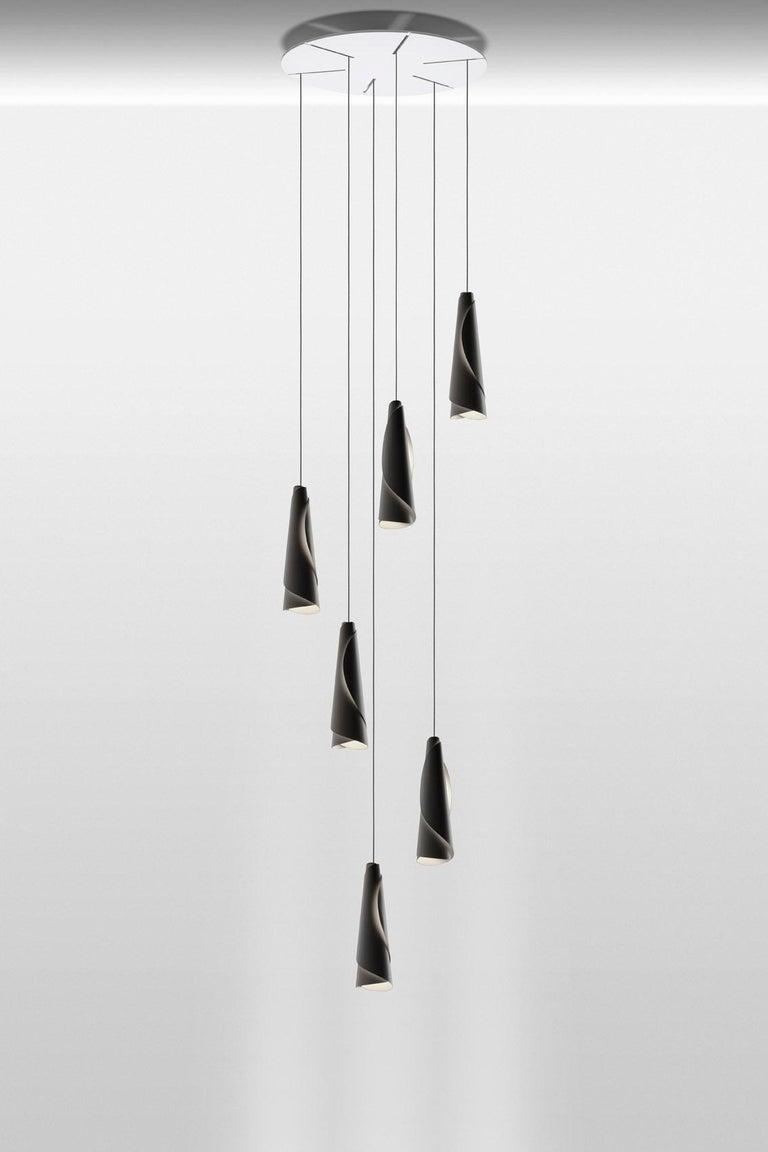 Foscarini Maki Suspension Lamp in White by Nendo In New Condition For Sale In New York, NY