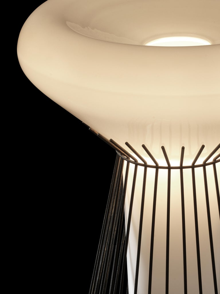 Varnished Foscarini Metafisica Table Lamp in Ivory by Diesel For Sale