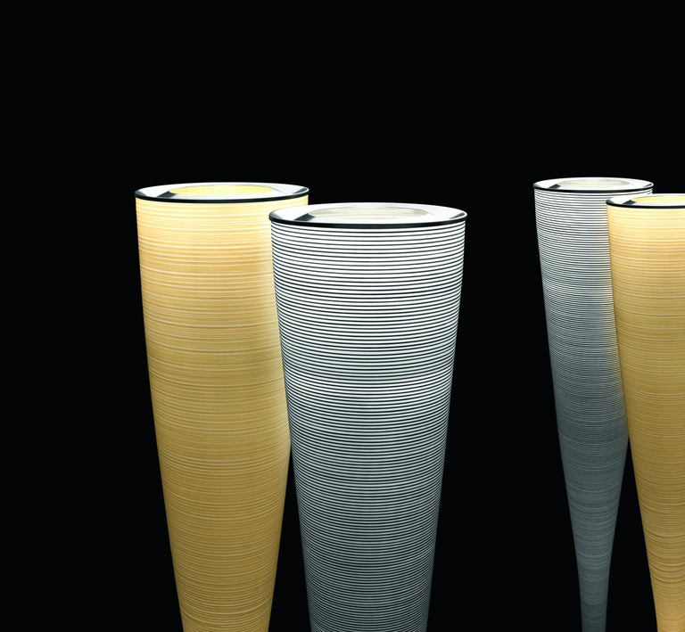 Modern Foscarini Mite Floor Lamp in Yellow by Marc Sadler For Sale