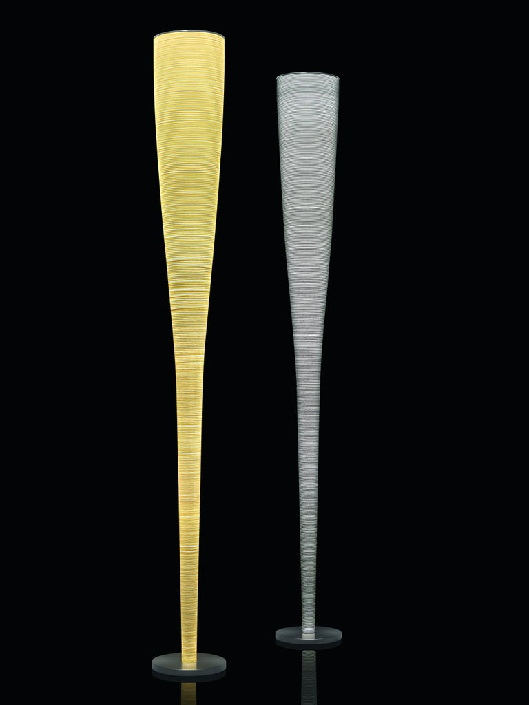 Italian Foscarini Mite Floor Lamp in Yellow by Marc Sadler For Sale