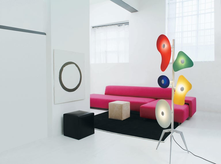 Italian Foscarini Orbital Floor Lamp in Multicolors by Ferruccio Laviani For Sale