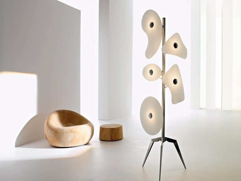Modern Foscarini Orbital Floor Lamp in White by Ferruccio Laviani For Sale