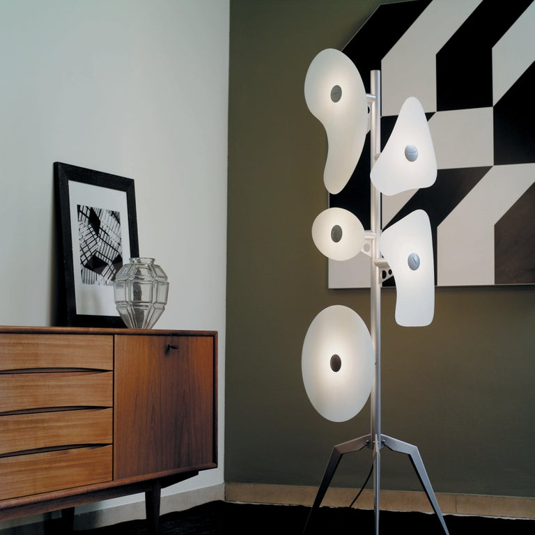 Italian Foscarini Orbital Floor Lamp in White by Ferruccio Laviani For Sale