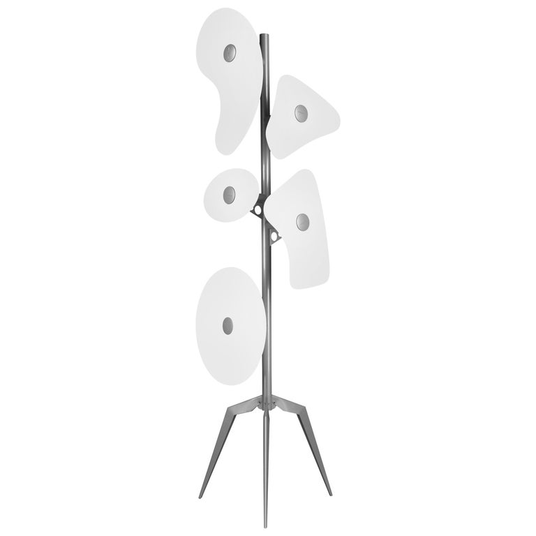 Foscarini Orbital Floor Lamp in White by Ferruccio Laviani For Sale