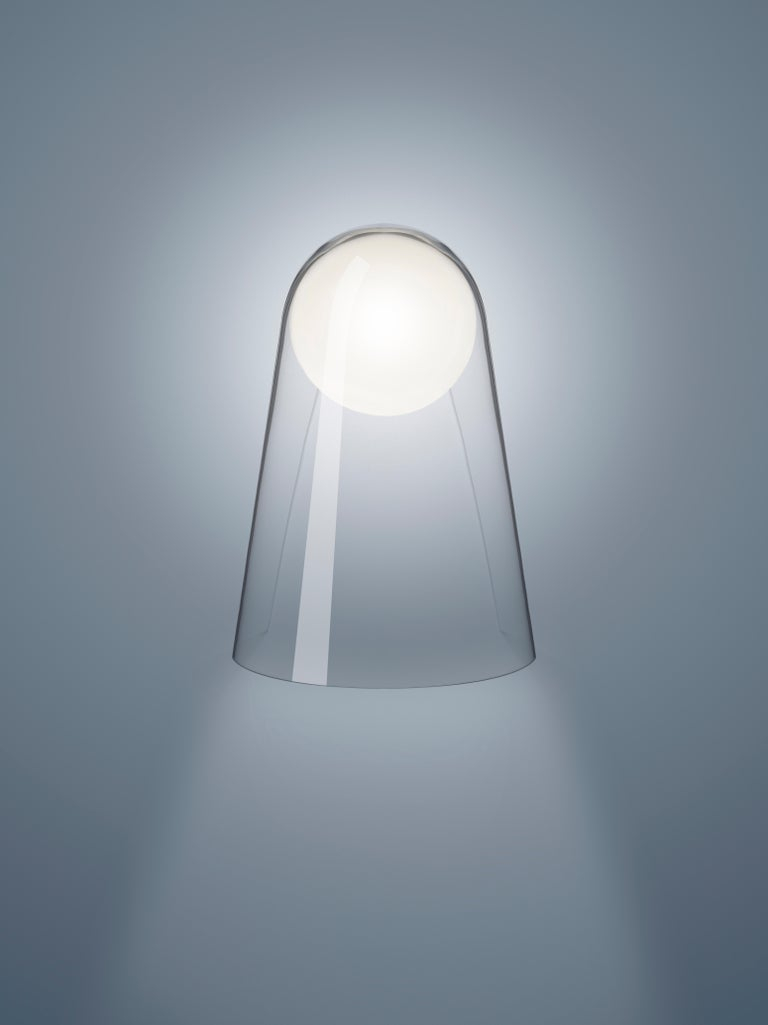 Italian Foscarini Satellight Wall Lamp in White and Transparent by Eugeni Quitllet For Sale