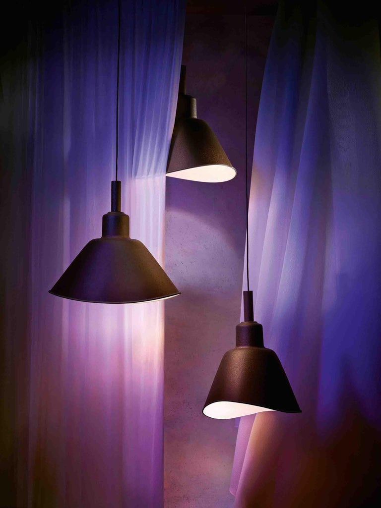 Varnished Foscarini Smash Suspension Lamp in Grey by Diesel For Sale