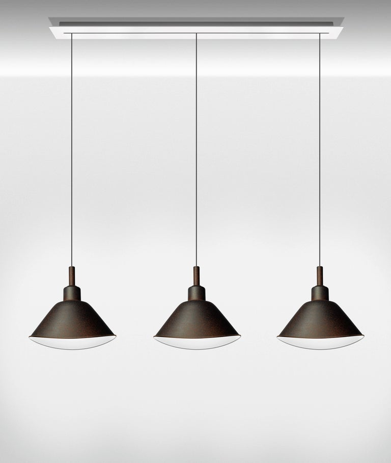 Foscarini Smash Suspension Lamp in Grey by Diesel In New Condition For Sale In New York, NY