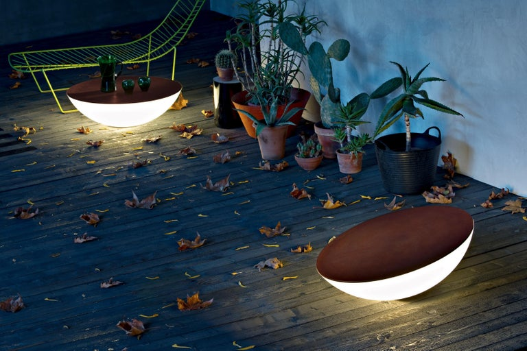 Modern Foscarini Solar Outdoor Floor Lamp in Brown by Jean Marie Massaud For Sale