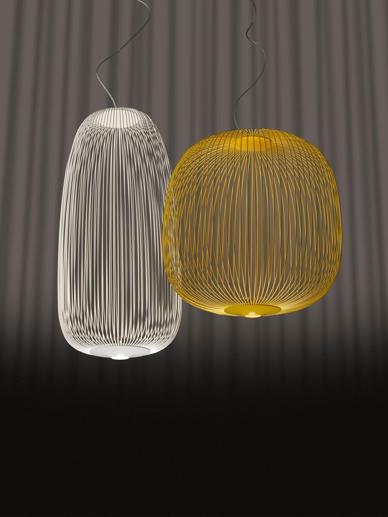 Modern Foscarini Spokes 1 Suspension Lamp in Copper by Garcia and Cumini For Sale