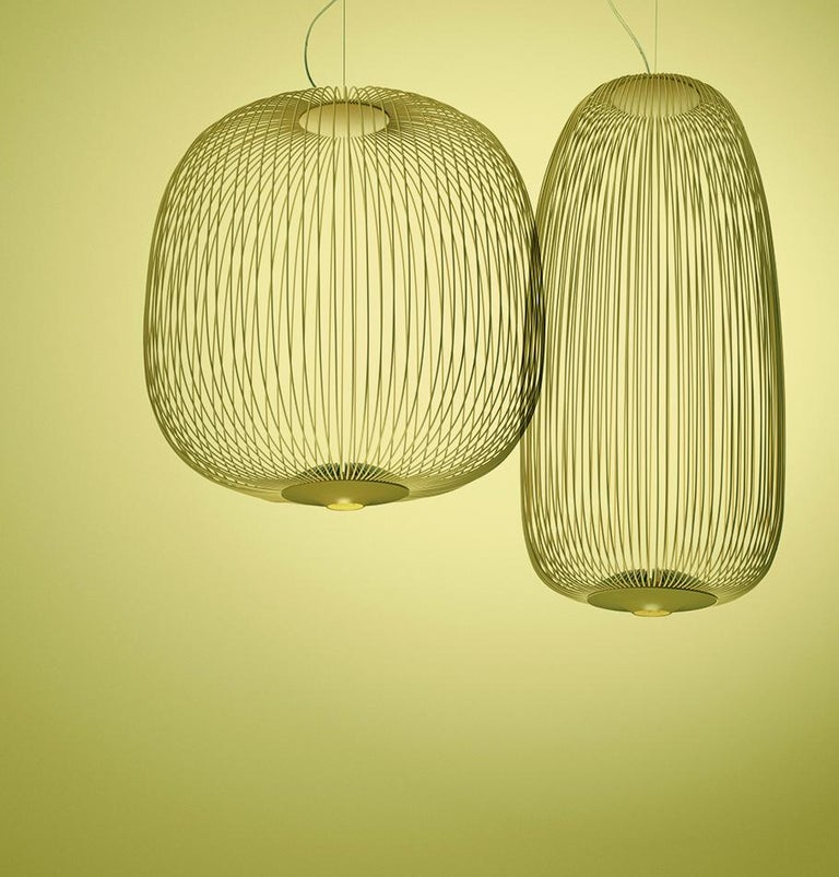 Italian Foscarini Spokes 2 Large Suspension Lamp in White by Garcia and Cumini For Sale