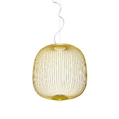 Foscarini Spokes 2 Large Suspension Lamp in Yellow by Garcia and Cumini