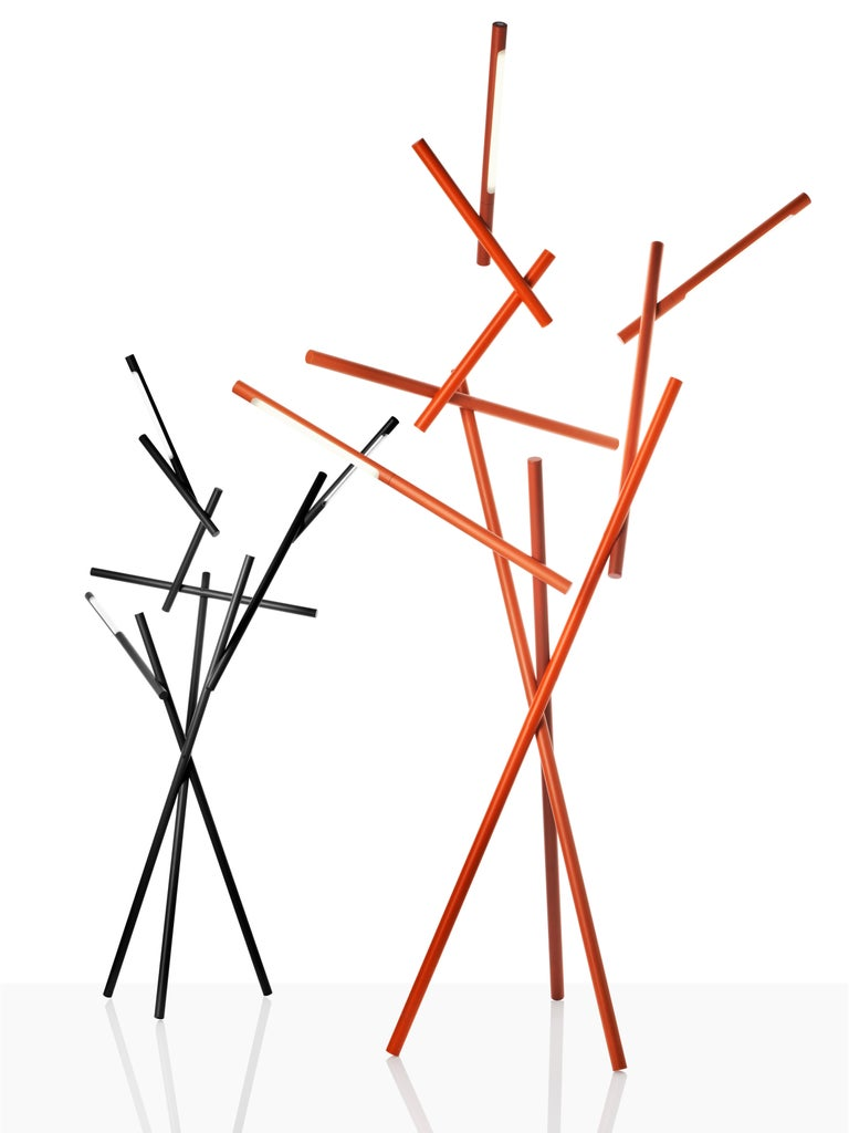 Modern Foscarini Tuareg LED Floor Lamp in Orange by Ferruccio Laviani For Sale