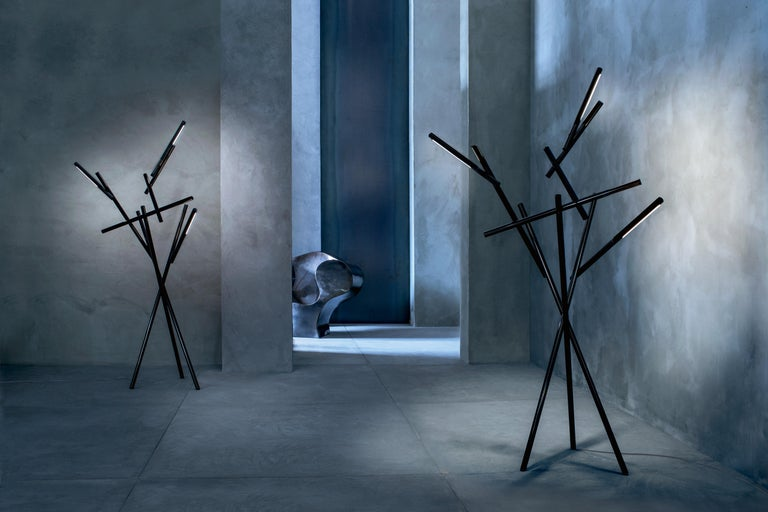 Italian Foscarini Tuareg LED Floor Lamp in Orange by Ferruccio Laviani For Sale