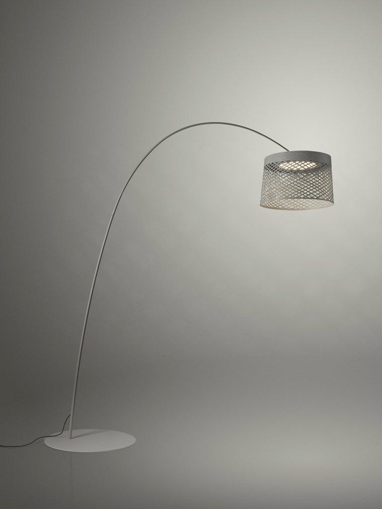 Italian Foscarini Twiggy Grid Outdoor Floor Lamp in Greige by Marc Sadler For Sale