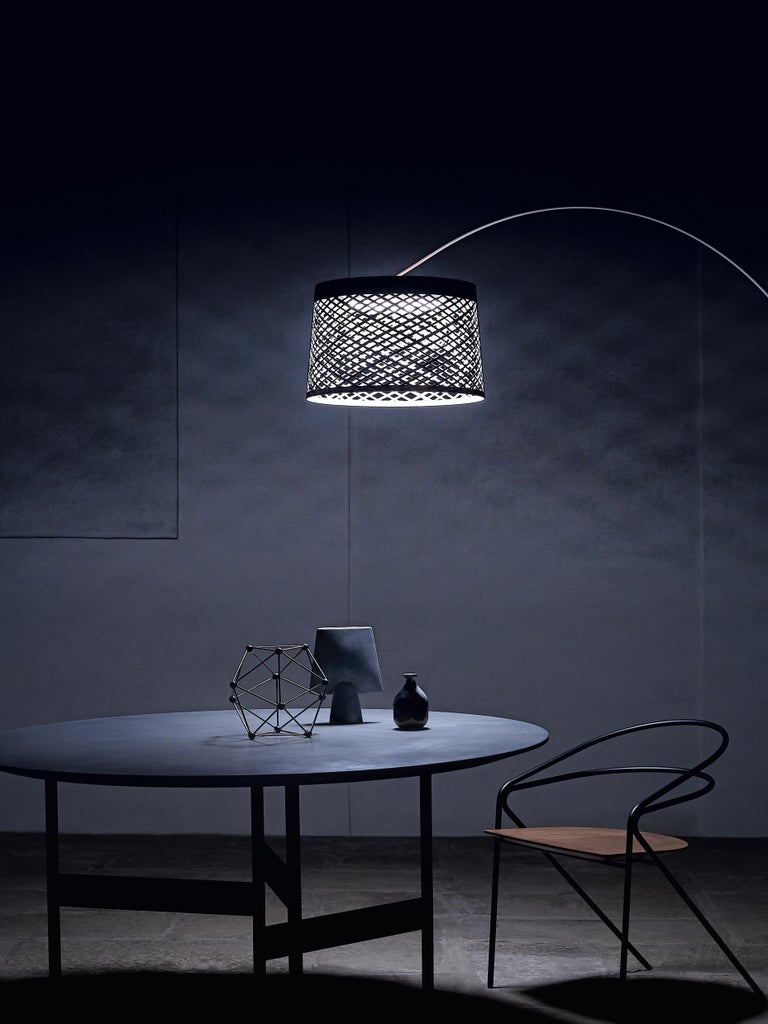 Contemporary Foscarini Twiggy Grid Outdoor Floor Lamp in Greige by Marc Sadler For Sale