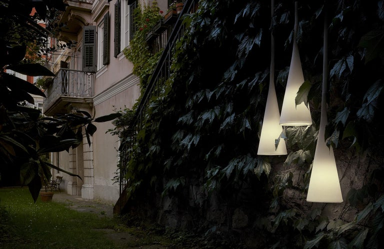 Modern Foscarini UTO Suspension/Table Lamp in Orange by Lagranja Design For Sale