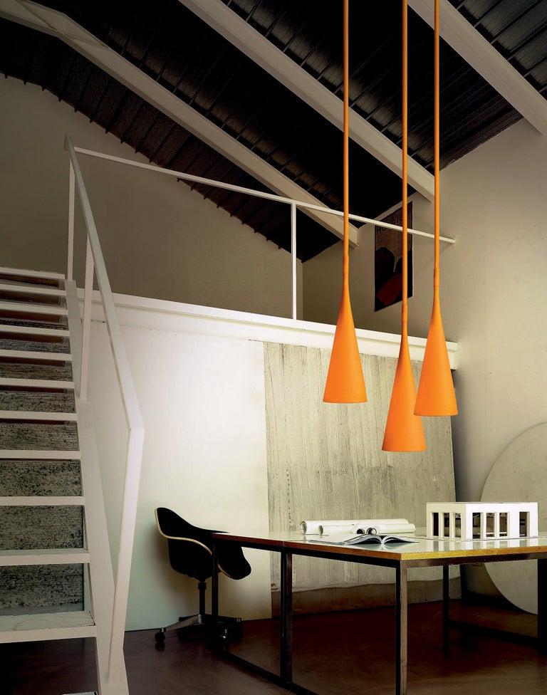 Italian Foscarini UTO Suspension/Table Lamp in Orange by Lagranja Design For Sale