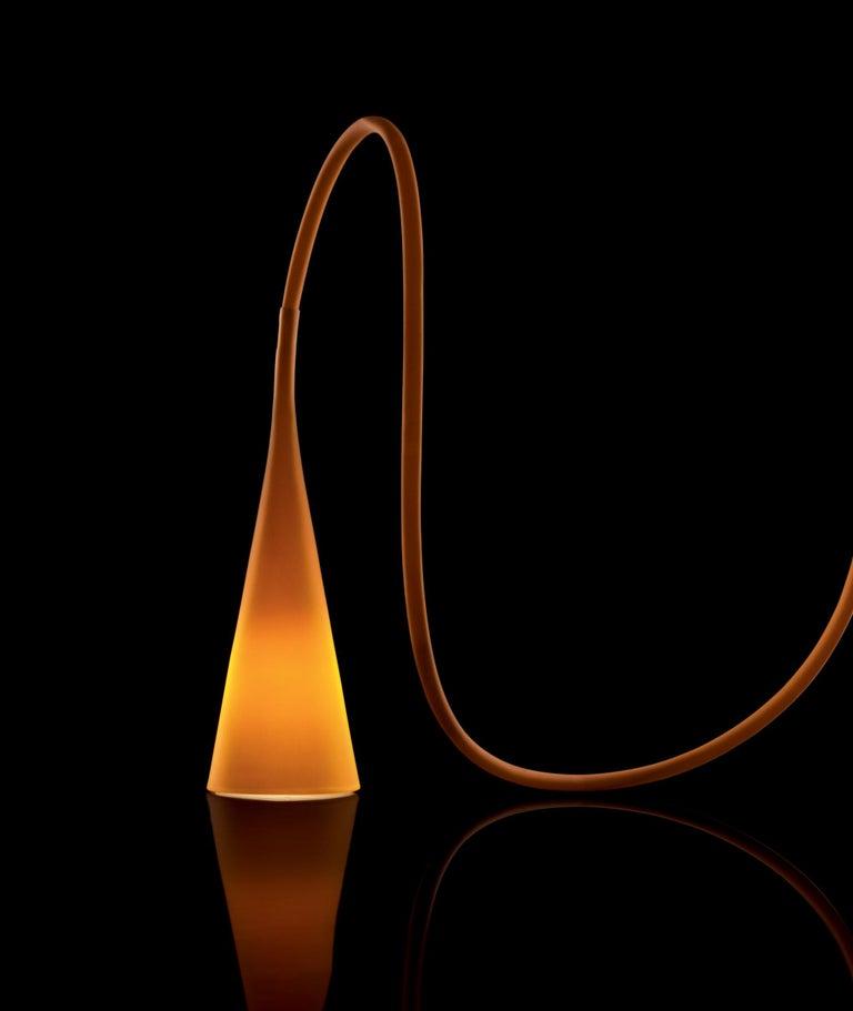 Contemporary Foscarini UTO Suspension/Table Lamp in Orange by Lagranja Design For Sale