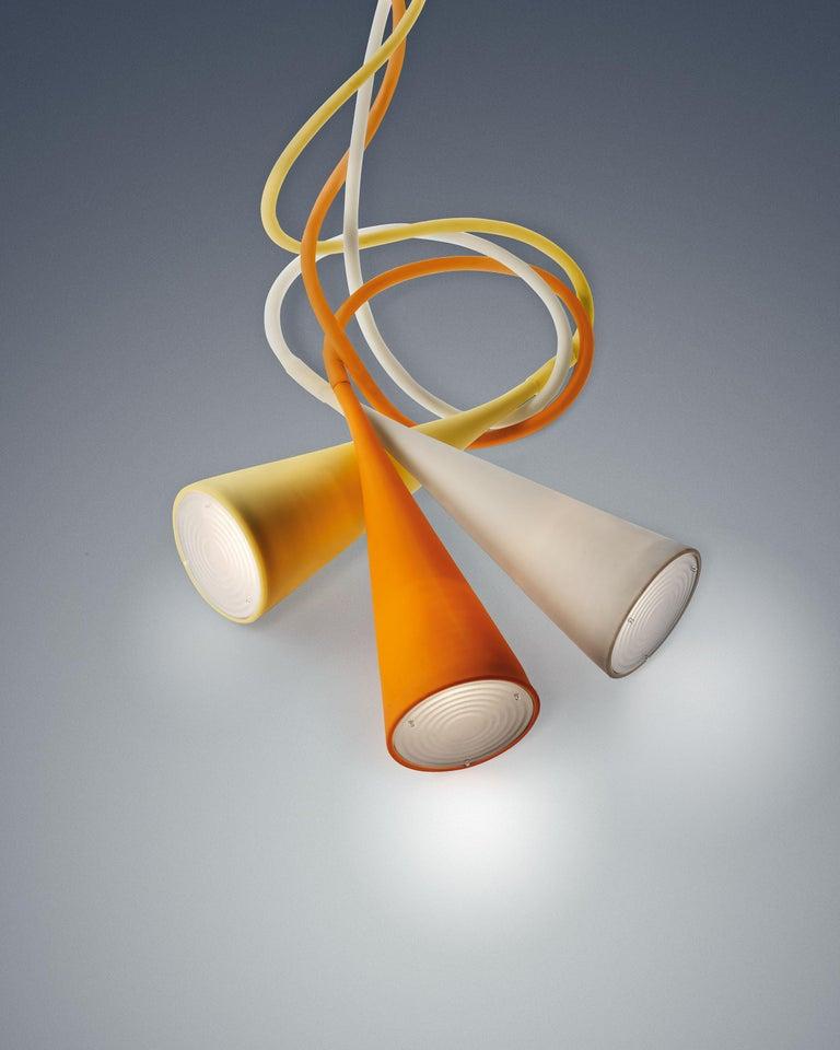 Aluminum Foscarini UTO Suspension/Table Lamp in Orange by Lagranja Design For Sale