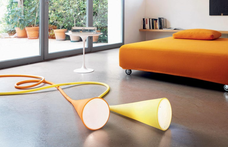 Aluminum Foscarini UTO Suspension/Table Lamp in White by Lagranja Design For Sale
