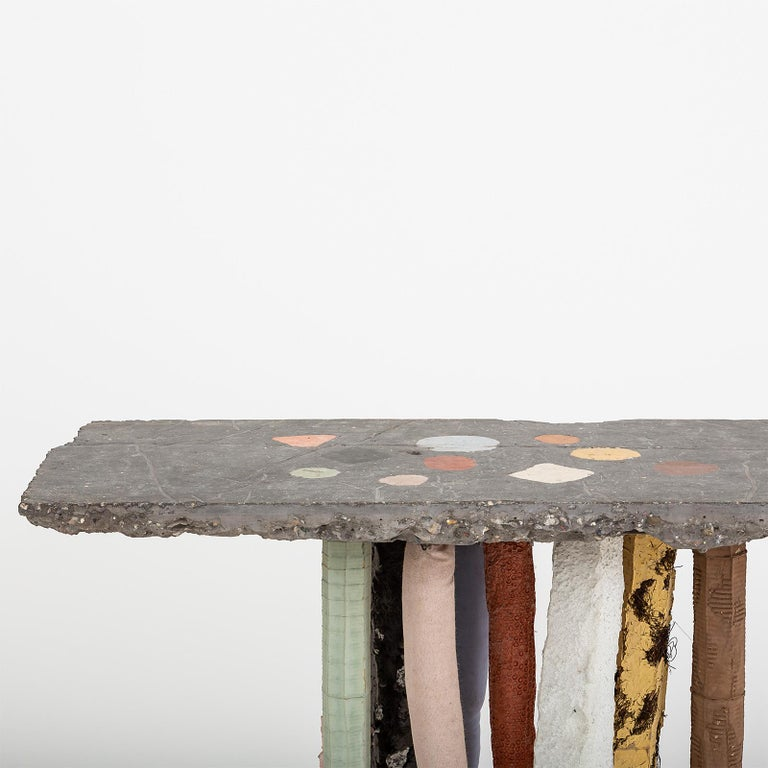 Dutch Fossil Console in Concrete by Nacho Carbonell For Sale