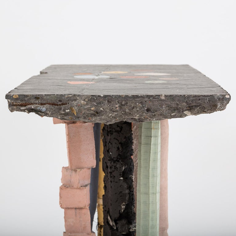 Contemporary Fossil Console in Concrete by Nacho Carbonell For Sale