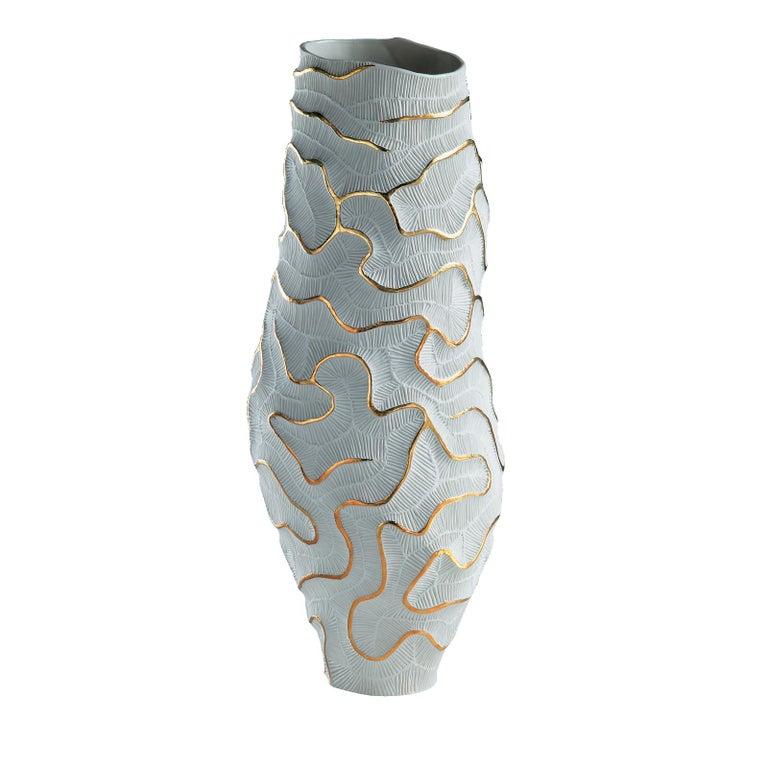 Italian Fossilia Monolite Vase by Fos Ceramiche For Sale