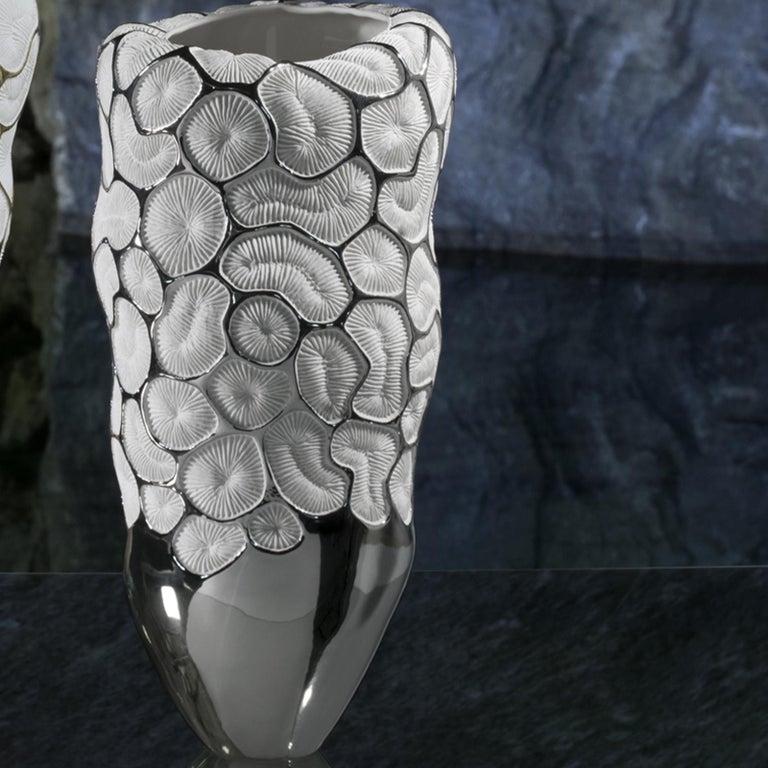 Italian Fossilia Queen Vase by Fos Ceramiche For Sale