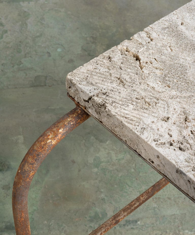 Fossilized Stone Top Green House Cart, America, 20th Century For Sale 2