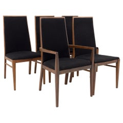 Foster McDavid Mid Century Walnut Dining Chairs, Set of 5