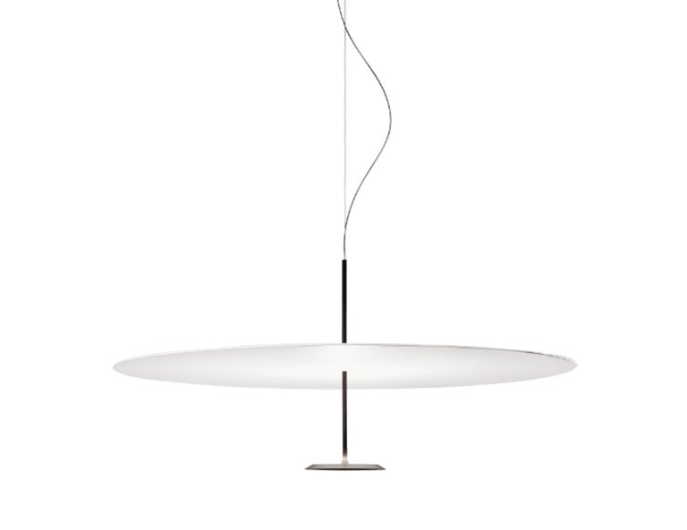 he Lumina Dot 800 is the medium of three pendant lights that feature a white reflector. The light was designed in 2016 by Foster+Partners.  Dimmable source: 1× 41W 2700K / 2350lm.
