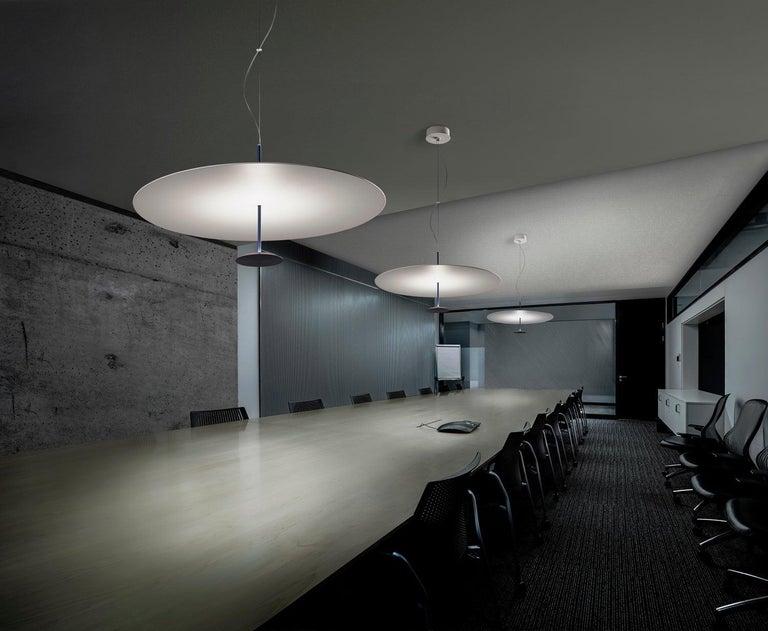 Aluminum Foster + Partners Anodized Black Lumina Dot 800 Pendant Lamp For Sale