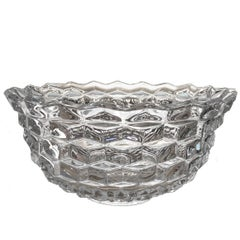Fostoria American Clear Large Crystal Punch or Fruit Bowl