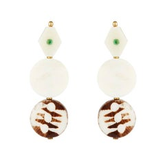 Fouche Emerald Bone Earrings