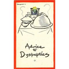 Cyril Kenneth Bird ('Fougasse') Advice to Dyspeptics 1940s lithograph WW2