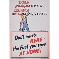 Fougasse It Does Matter: The Country Pays for it original vintage poster WW2