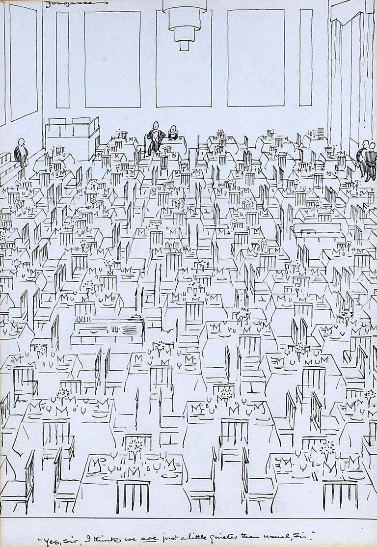Fougasse (Cyril Kenneth Bird) Print - Fougasse 'Yes Sir...' Original Pen & Ink Cartoon for 'Punch'