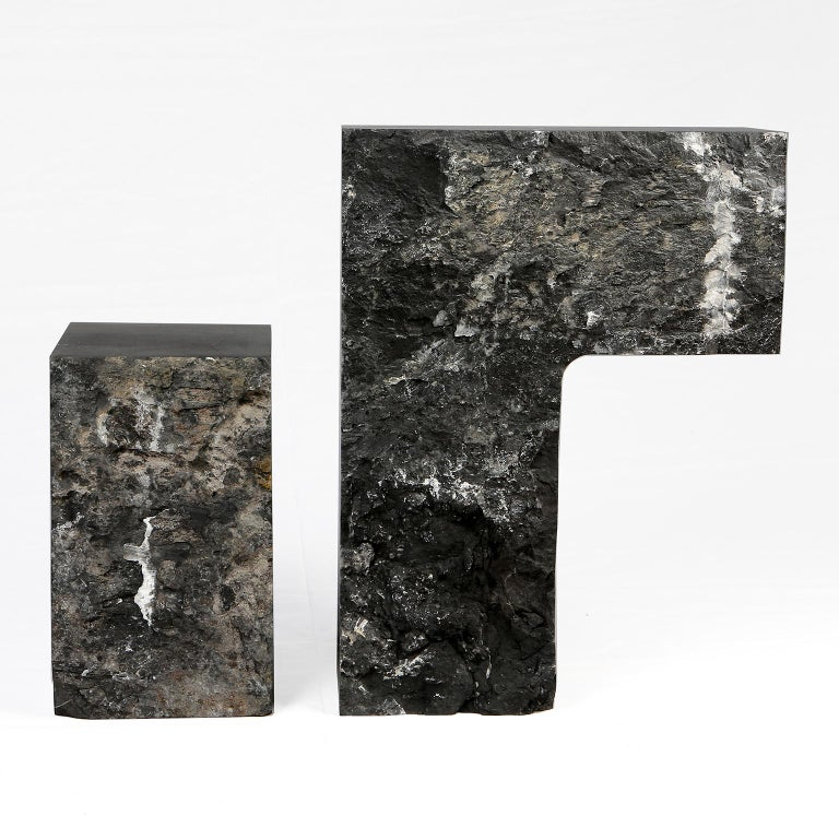 Spontaneity, environmental awareness and the primeval nature of the materials are central themes explored in this collection, which focuses on the power of the medium to dictate the final form these functional works of art take.  This side table