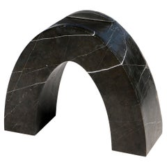 Found II Black Marble Side Table No.2 by A Space