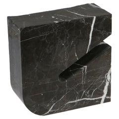 Found II Black Marble Side Table No.3 by A Space