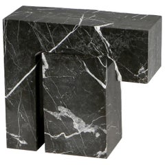 Found II Black Marble Side Table No.5 by A Space