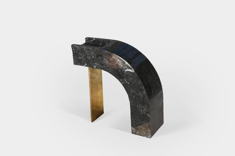 Found II Black Marble Side Table No.6 by A Space In New Condition For Sale In Brooklyn, NY
